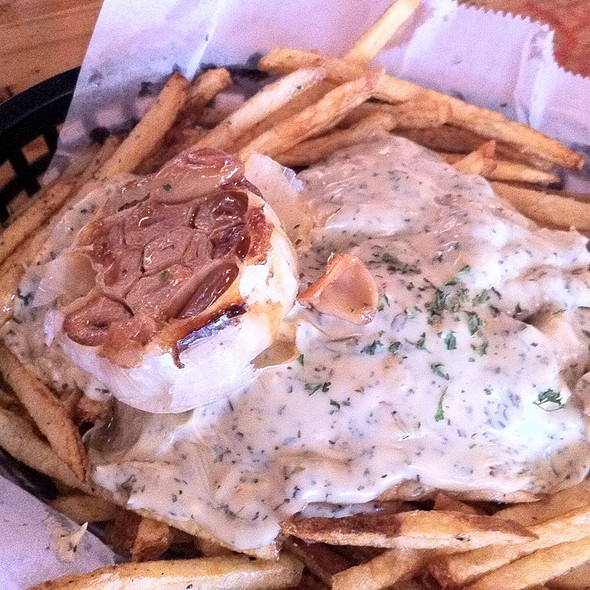 Garlic and Blue Cheese Duck Fat Fries