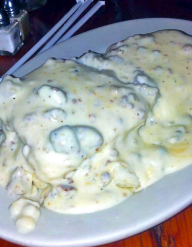Really, it's the biscuits and gravy. DELISH