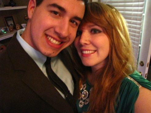 Gosh, we're a good looking couple.