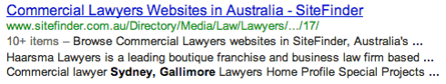 I always wanted to be a commercial lawyer!