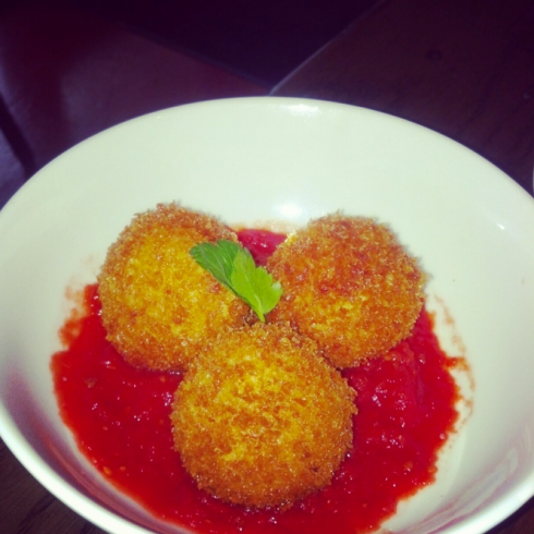 Yummy, cheesy rice balls