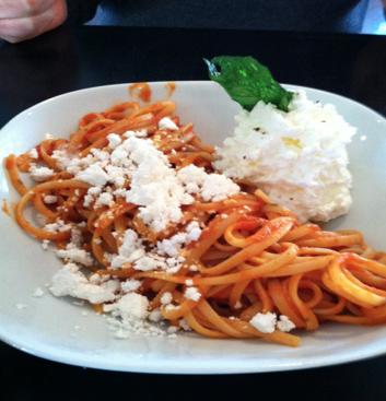 Pasta Pomodoro at The Owl in Greenville, SC