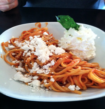 Pasta Pomodoro at The Owl in Greenville, SC