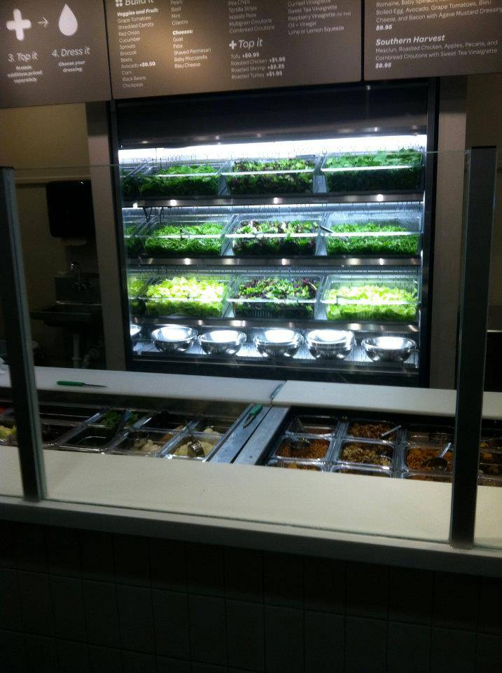 Behold, the wall of lettuce.