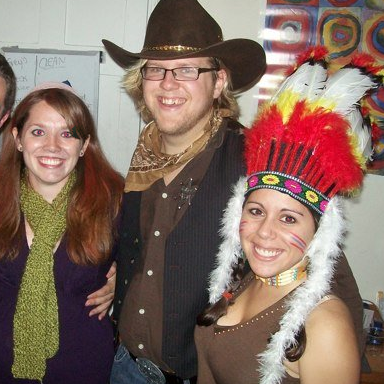 This is our first picture together! Halloween 2009!