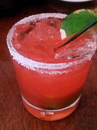 More like StrawBURNy margarita.